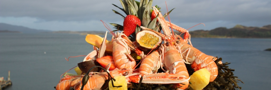 Fresh seafood dishes using local produce